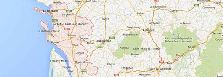 Grands Gites, gites de groupe, villages de vacances, hotels, camping recevant des groupe en Charente Maritime pres de La Rochelle