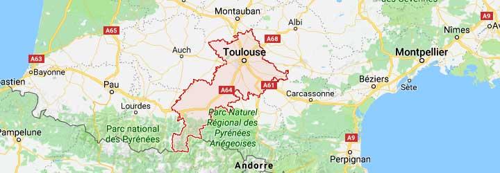 gites de groupe,grands gites, hotels, chalets, campings, villages de vacances en Haute Garonne
